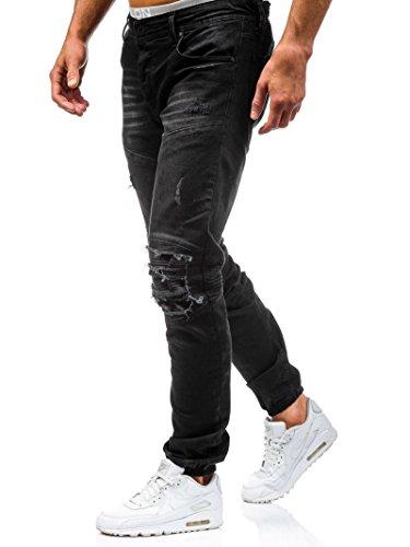... Elonglin Homme Jeans Dchir Grand Trou Dlav Pantalon