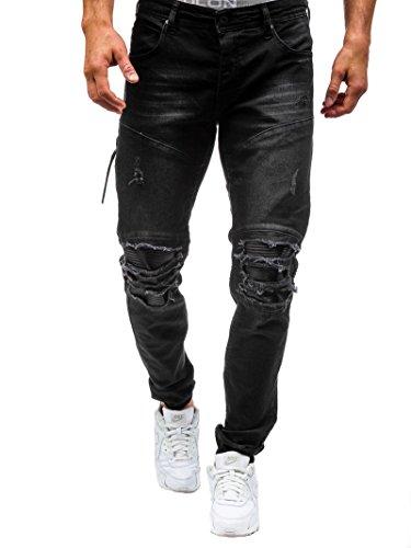 a7c0c13e8d93f Achat Elonglin Homme Jeans Déchiré Grand Trou délavé Pantalon Trous ...