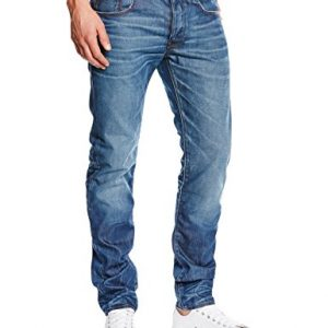 G-Star-3301-Jeans-Slim-Homme-Bleu-Medium-Aged-W34L34-Taille-fabricant-W34L34-0-1