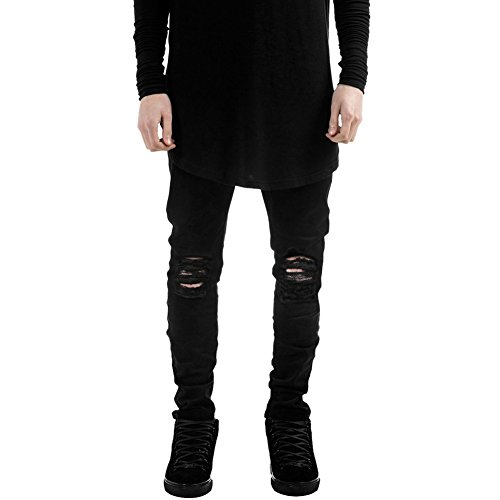 LAEMILIA-Homme-Pantalons-Denim-Trou-Biker-Jeans-Skinny-Cargo-Straight-Slim-Fit-Dchir-Cigarette-FR40-0