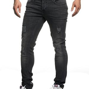 Tazzio-16525-Jean-slim-aspect-us-stretch-denim-pour-homme-noir-34W-x-32L-0