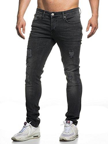 Tazzio-16525-Jean-slim-aspect-us-stretch-denim-pour-homme-noir-34W-x-32L-0