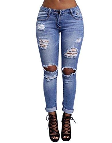WanYang-Femme-Rtro-Jeans-Dchirs-Trous–Taille-Haute-en-Denim-Pantalons-Slim-Crayon-Pantalon-0