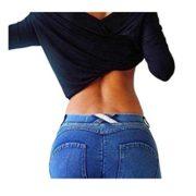 Bestgift-Femme-Jean-serre-slim-flexible-Gris-M-0-0