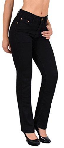 by-tex-Jean-femme-pantalon-en-jean-femme-Jeans-taille-haute-noir-et-bleu-grande-taille-34-36–54-56-0