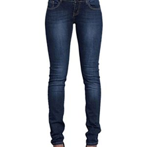 Minetom-Femmes-Taille-Haute-Skinny-Denim-Pantalon-Collants-Stretch-Slim-Fit-Jeans-Pantalons-Crayon-Pants-Vintage-Jeggings-Bleu-Fonc-EU-S-0