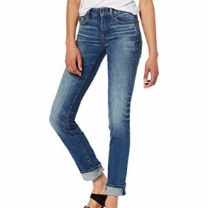 G-STAR-RAW-3301-Deconstructed-Mid-Waist-Straight-Jeans-Bleu-Medium-Aged-A670-071-28W-32L-Femme-0
