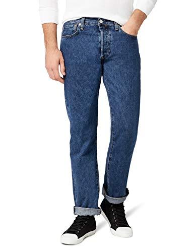 Levis-Homme-501-Original-Straight-Fit-Jeans-Homme-Bleu-Stonewash-W32L30-0