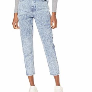 New-Look-Acid-Wash-Mom-Jean-Slim-Bleu-Mid-Blue-40-38-Taille-Fabricant-10L30-Femme-0