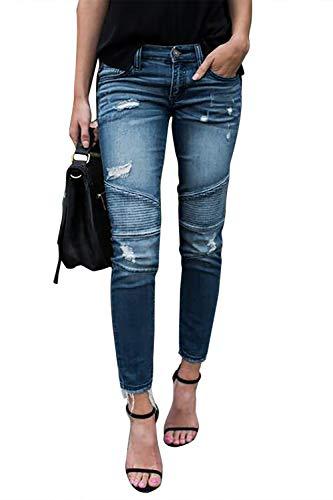 Yidarton-Femme-Jeans-Dchir-Push-Up-Skinny-Slim-Fit-Stretch-Boyfriend-Denim-Jean-Trou-Pantalons-Jeggings-Pants-Casual-Rtro-Bleu-Clair-Large-0