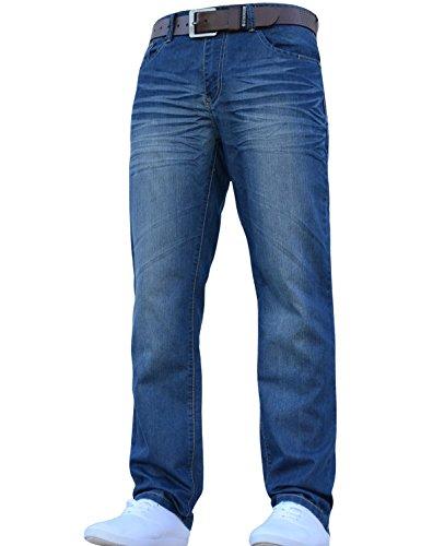 hommes-Crosshatch-classique-coupe-droite-coupe-standard-lgant-JEANS-toutes-tailles-tailles-avec-ceinture-0