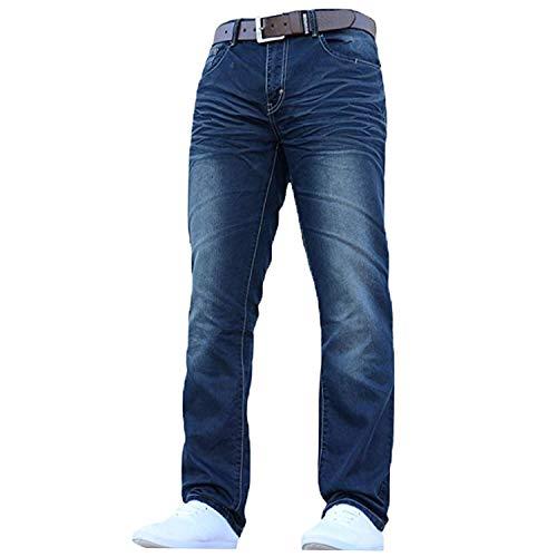 Crosshatch-Jean-pour-hommes-coupe-droite-classique-et-lgant-toutes-tailles-avec-ceinture-58-ordinaire-0