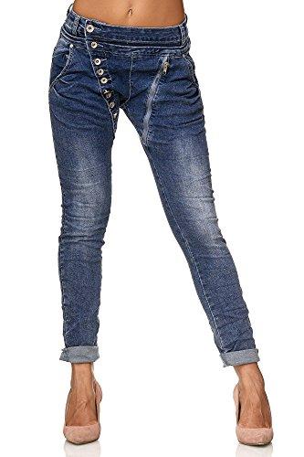Elara-Jean-pour-Femme-avec-boutonniere-Fermeture-Eclair-Chunkyrayan-Bleu-Fonce-40-L-0