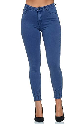 Elara-Jeans-Femme-Taille-Haute-Skinny-Slim-Chunkyrayan-EL01-18-Cowboyblue-50-5XL-0