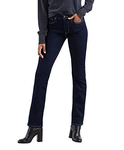 Levis-724-High-Rise-Straight-Jean-droit-Femme-Bleu-Two-The-Nine-0015-W34L32-0
