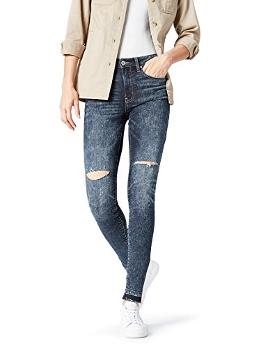 find-AZW-8015-jeans-femme-Bleu-Rigid-W30L32-Taille-Fabricant-Medium-0