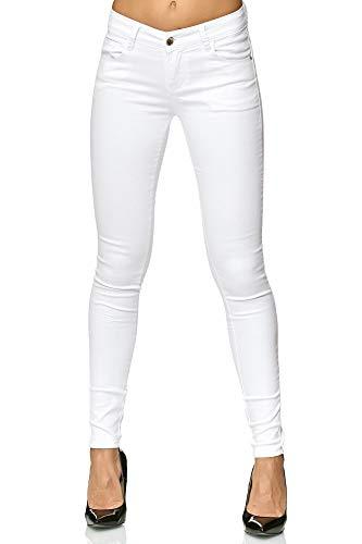 Elara-Jean-Extensible-Femmes-Push-Up-Ceinture-lastique-Chunkyrayan-P-Y5110-White-40-L-0