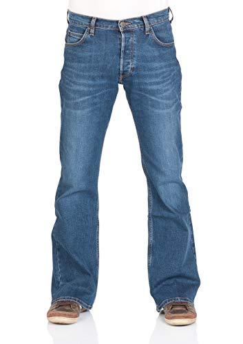 Lee-Denver-Jean-stretch-en-coton-pour-homme-Coupe-bootcut-Bleu-Tailles-W30–W44-Bleu-W34-0