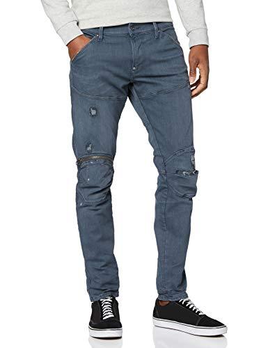 G-STAR-RAW-5620-3D-Zip-Knee-Skinny-Jeans-Bleu-Gris-Cerise-Vieilli-9882-b428-27W-x-30L-Homme-0