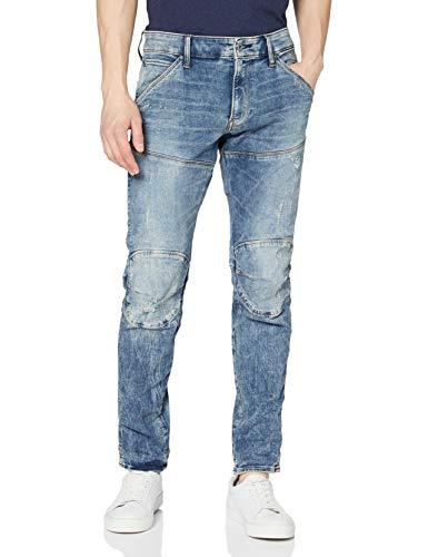 G-STAR-RAW-5620-Elwood-3D-Skinny-Jeans-Bleu-lt-Vintage-Aged-Destroy-8969-9114-31W-34L-Homme-0